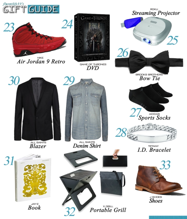 Holiday 2012 Men Gift Guide